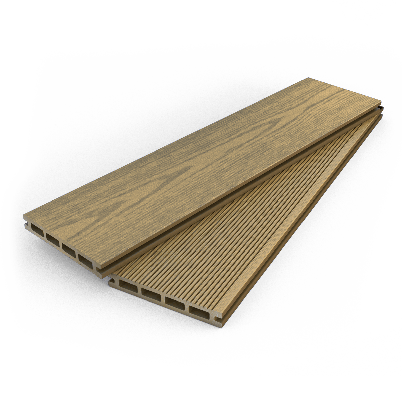 Dino decking hollow composite decking boards for Compare composite decking brands